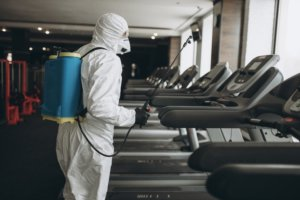 Disinfecting gyms